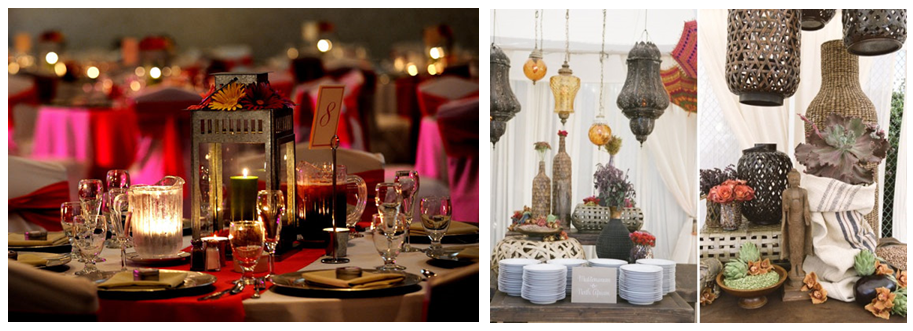 Ethnic Wedding Decor - Lanterns