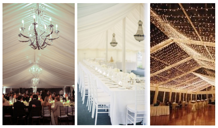 black tie marquee lighting