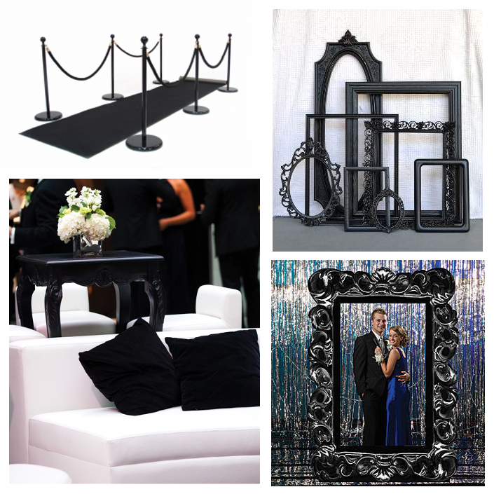 black tie marquee furnishings