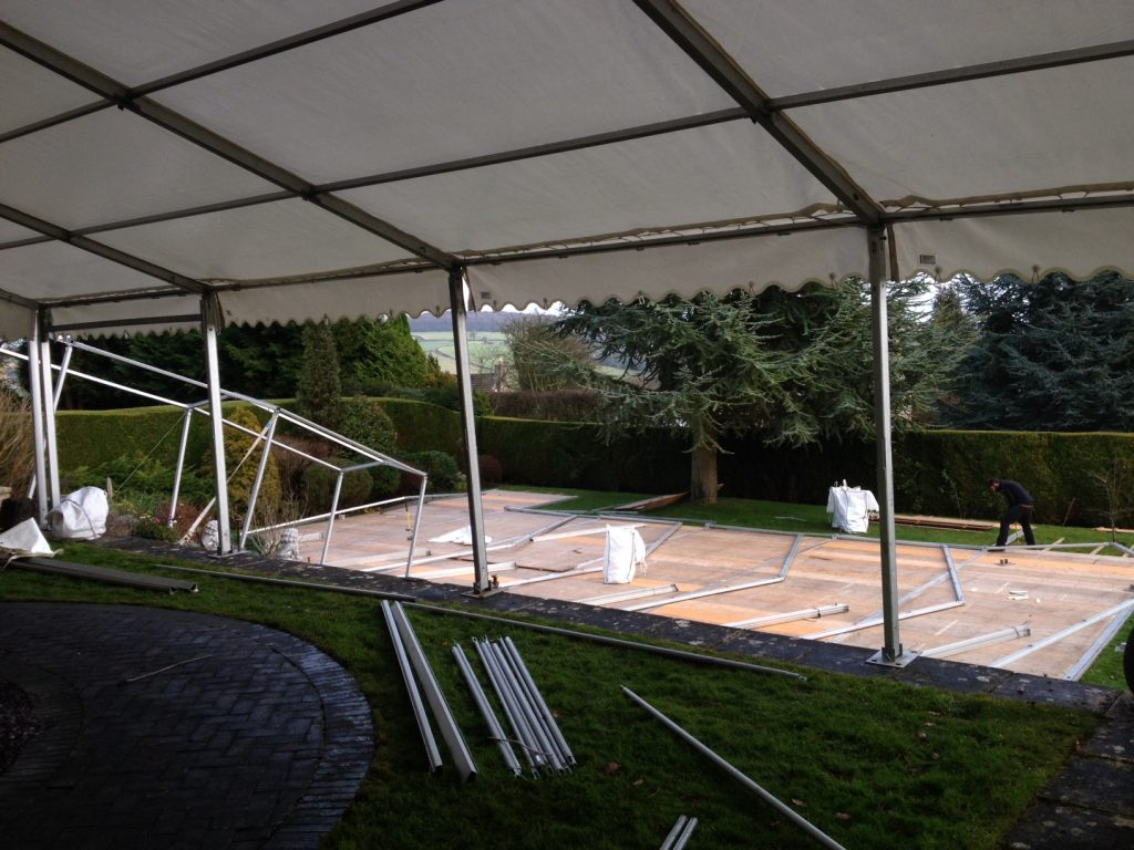 Setting up Marquee Hire